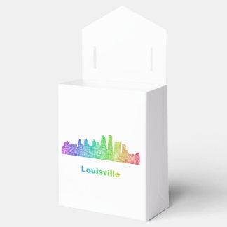 Rainbow Louisville skyline Favour Box
