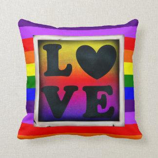 Rainbow Love Heart LGBT Pride & Support Pillow