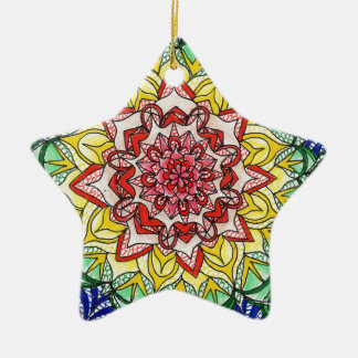 Rainbow Mandala Christmas Ornament
