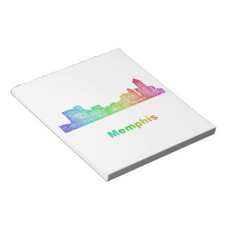Rainbow Memphis skyline Notepad