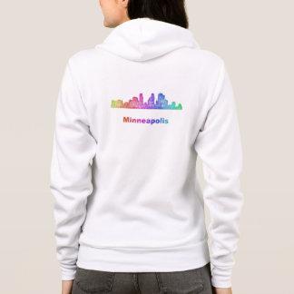 Rainbow Minneapolis skyline Hoodie