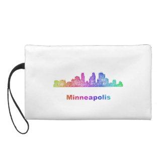 Rainbow Minneapolis skyline Wristlet
