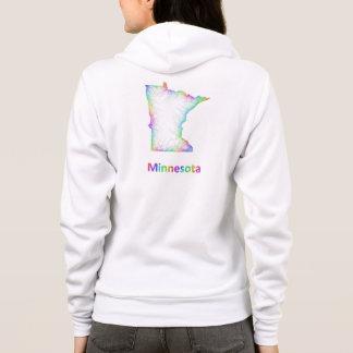Rainbow Minnesota map Hoodie