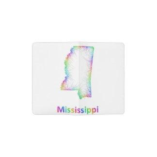 Rainbow Mississippi map Pocket Moleskine Notebook