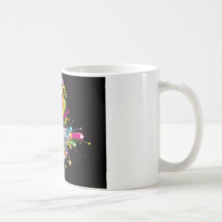 rainbow music theme coffee mugs