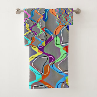Rainbow Net Bath Towel Set