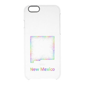 Rainbow New Mexico map Clear iPhone 6/6S Case
