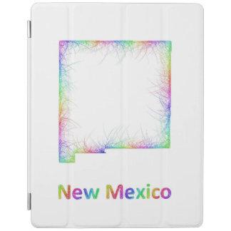Rainbow New Mexico map iPad Cover