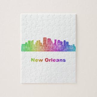 Rainbow New Orleans skyline Jigsaw Puzzle