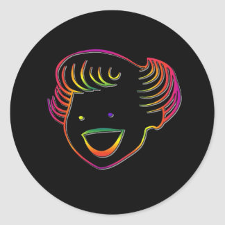 Rainbow Norma Jean Classic Round Sticker