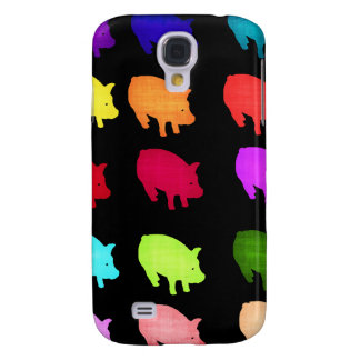 Rainbow Of Piggies Galaxy S4 Case
