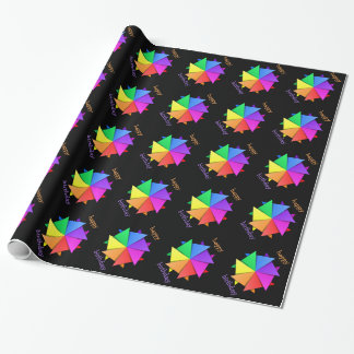 rainbow orogami wrapping paper