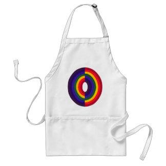 Rainbow Oval Opposite Apron