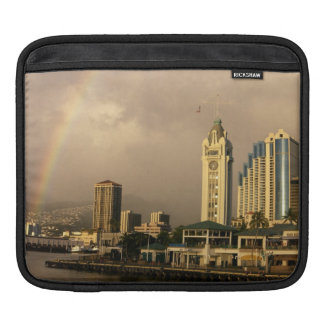 Rainbow over Honolulu, Hawaii, USA 2 iPad Sleeve