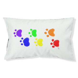 Rainbow Paw Prints Outdoor Pet Bed