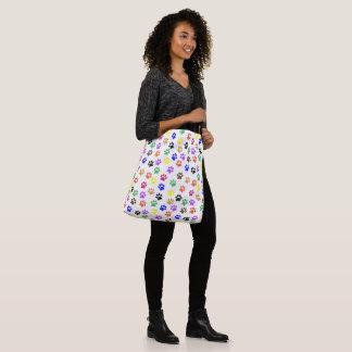 Rainbow Paw Prints PatternTote Bag