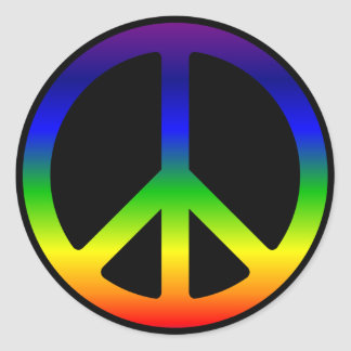 Rainbow Peace Symbol Stickers