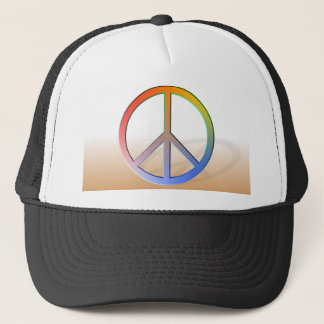 Rainbow Peace Symbol Trucker Hat