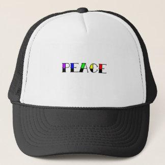 Rainbow Peace Trucker Hat