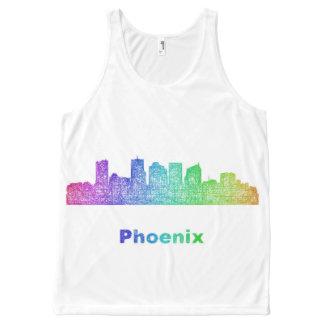Rainbow Phoenix skyline All-Over Print Singlet
