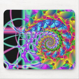 rainbow phoenix spiral mouse pad