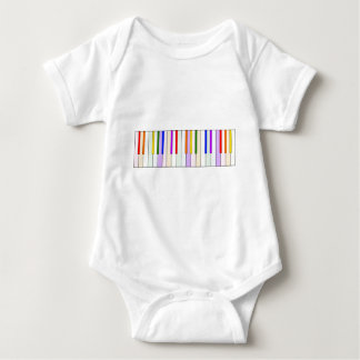 Rainbow Piano Keyboard Baby Bodysuit