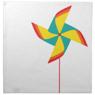 rainbow pinwheel napkin