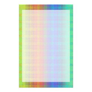 Rainbow Plaid Customize It or Go Bold Plaid Stationery