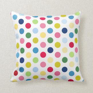 Rainbow polka dots cushions