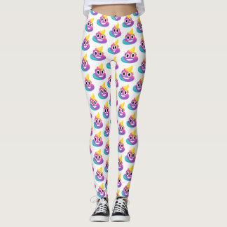 Rainbow Poop Emoji Leggings