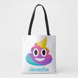 Rainbow Poop Emoji Tote Bag