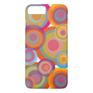 Rainbow Pop Circles Colorful Retro Fun Groovy Chic iPhone 8 Plus/7 Plus Case