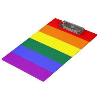 Rainbow Pride Gay Flag Clipboard