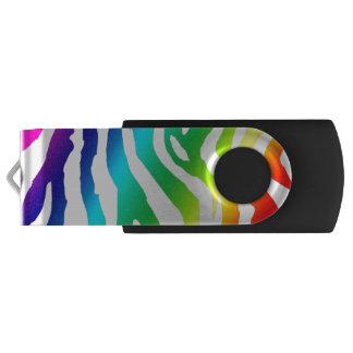 Rainbow print USB Swivel USB 3.0 Flash Drive