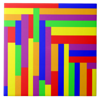 Rainbow Rectangles Tile