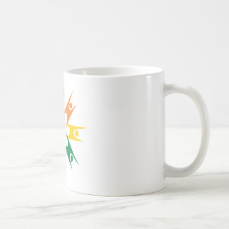 Rainbow Ring of Humanists Basic White Mug