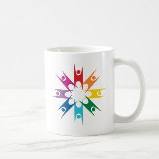 Rainbow Ring of Humanists Basic White Mug