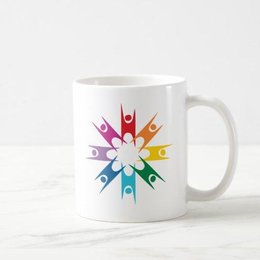 Rainbow Ring of Humanists Coffee Mugs