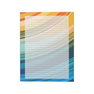 "Rainbow Ripples 8.5""x11"" Lined Notepad"