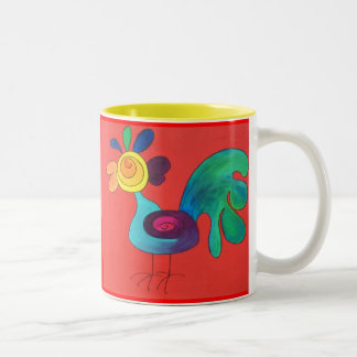 Rainbow Rooster Coffee Mug