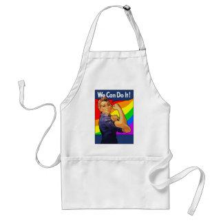Rainbow Rosie Standard Apron