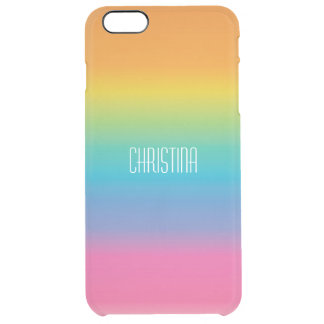 Rainbow Shade Gradient Clear iPhone 6 Plus Case