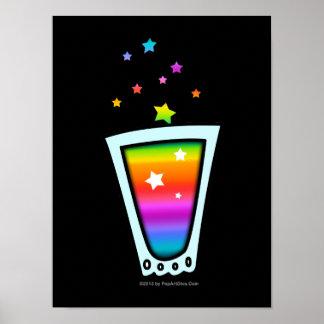 RAINBOW SHOT GLASS on POSTERS, PRINTS