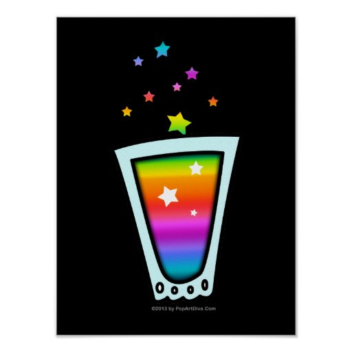 RAINBOW SHOT GLASS on POSTERS, PRINTS