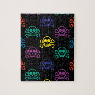 Rainbow Skull Jigsaw Puzzle