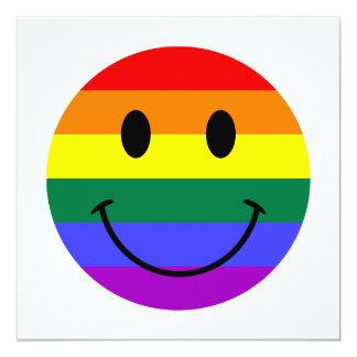 Rainbow Smiley Face Card