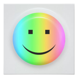 Rainbow smiley invitation card
