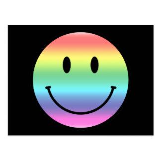 Rainbow Smiley Postcard