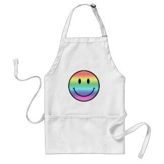 Rainbow Smiley Standard Apron