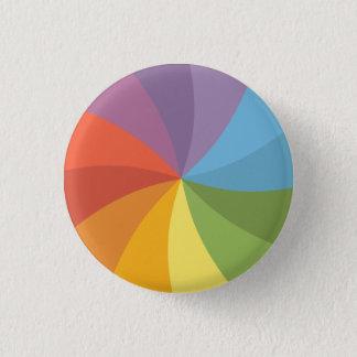 Rainbow Spinning Wheel 3 Cm Round Badge